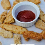 Gluten free fish sticks. Tasty healthy kid food.