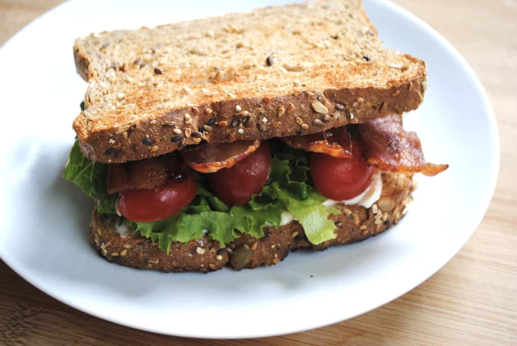 BLT with oven baked bacon