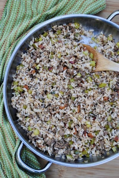 Dirty rice, a cheap and delicious Cajun delight!