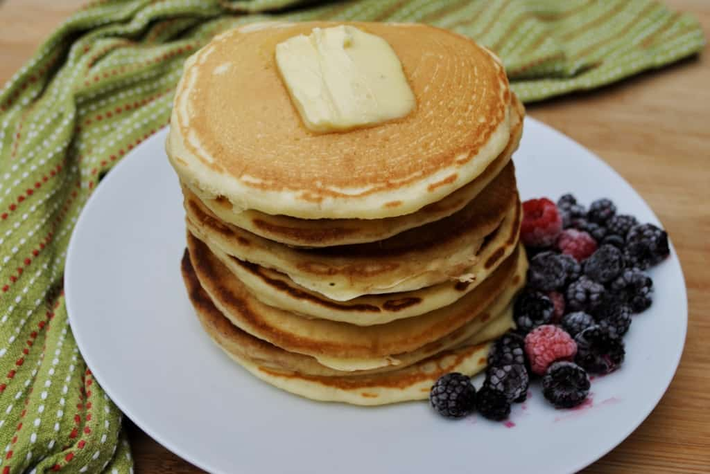 Delicious fluffy homemade pancakes. Simple ingredients and fool-proof.