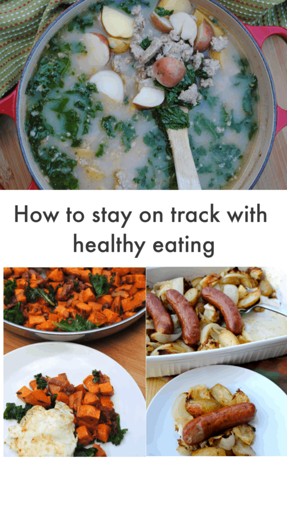 How to stay on track with healthy eating by keeping it simple.