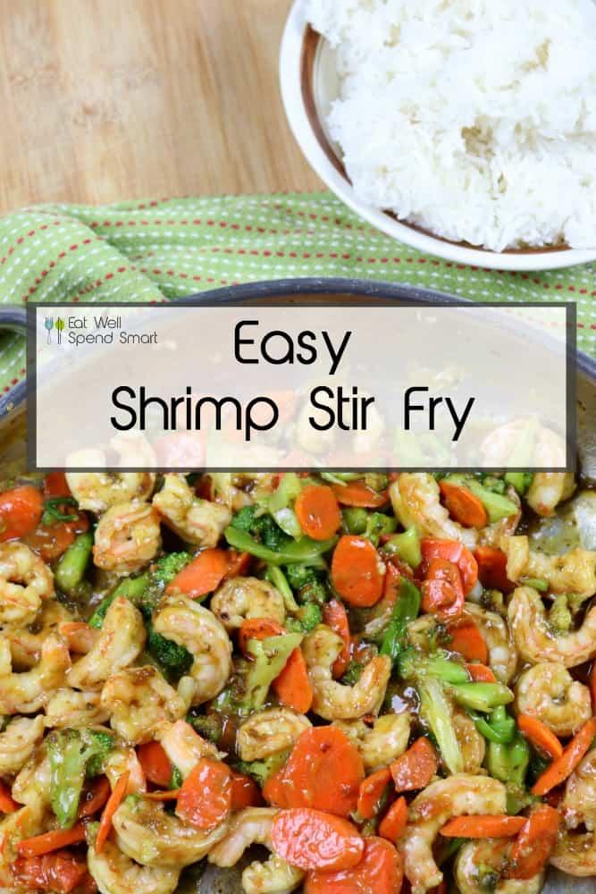Easy shrimp stir fry.  Perfect weeknight dinner.