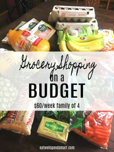 Grocery shopping on a budget.