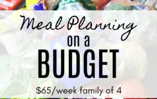 Meal planning on a budget. $65/week for a family of 4.