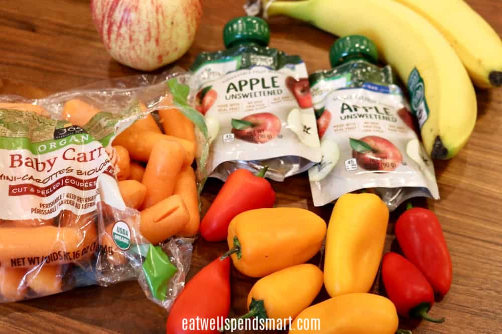Fruit and vegetable snacks. 50 cheap and healthy snacks