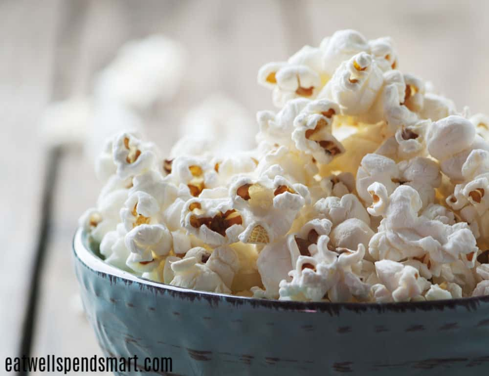 popcorn, 50 cheap healthy snacks