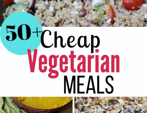 50+ Cheap vegetarian meals