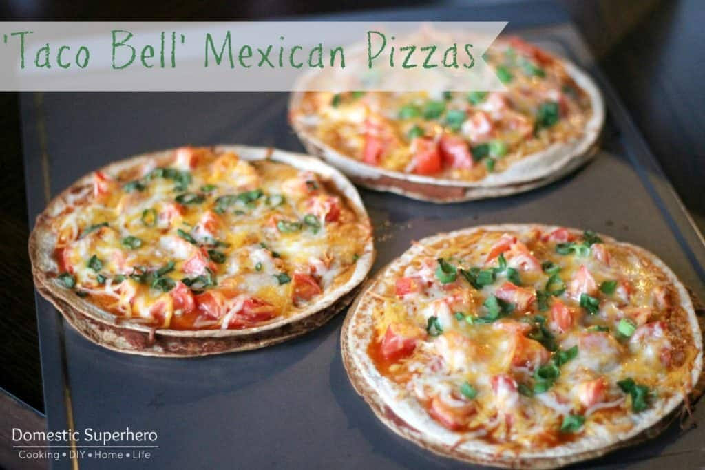 Mexican pizzas with beans