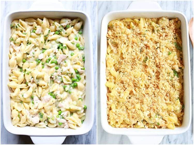 Tuna noodle casserole: canned tuna recipes