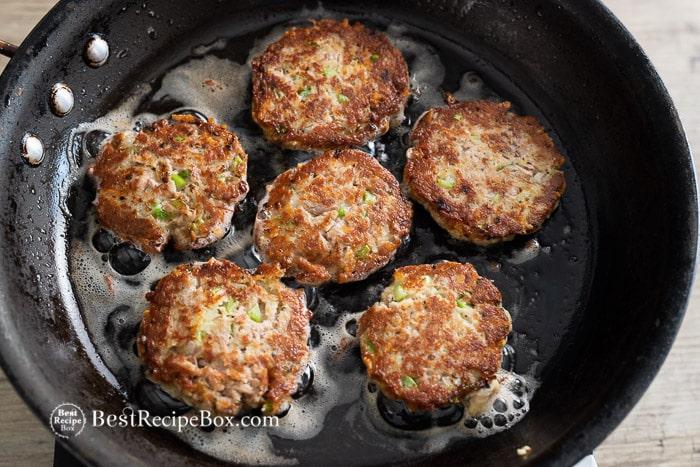 Tuna patties: canned tuna recipes