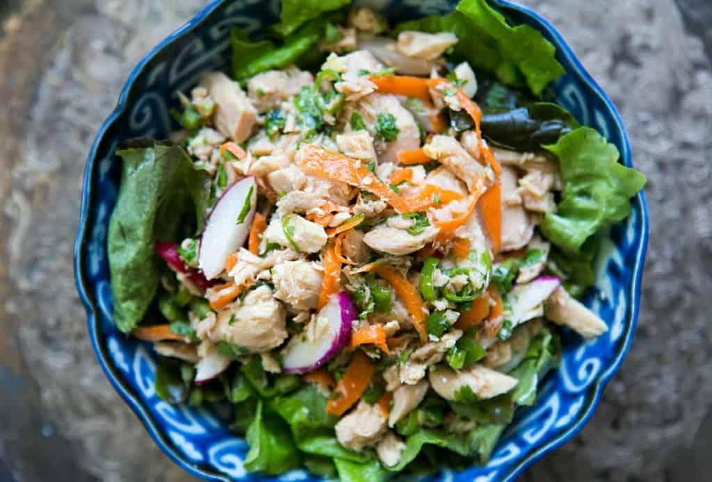 Asian tuna salad- canned tuna recipes