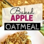 Baked apple oatmeal