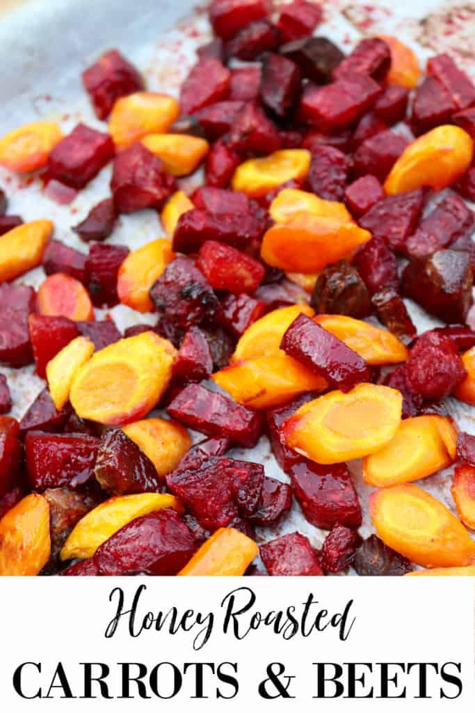 Honey roasted carrots and beets