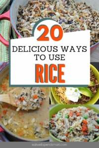 Ways to use rice