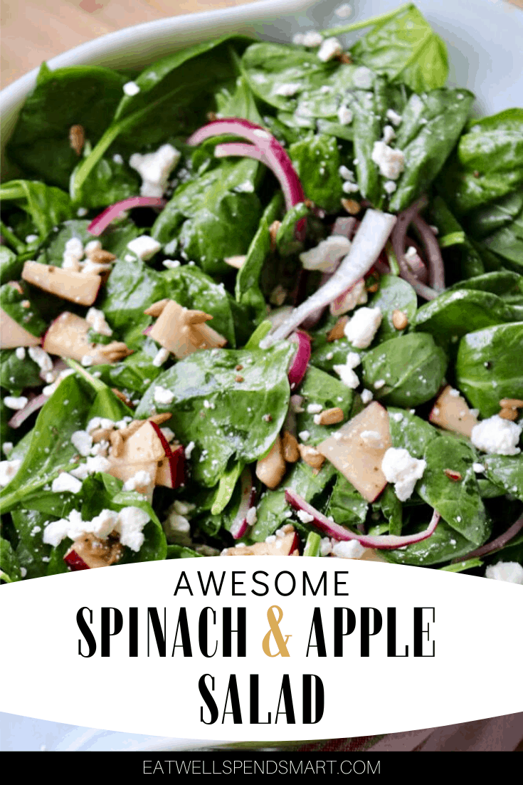 Awesome spinach and apple salad