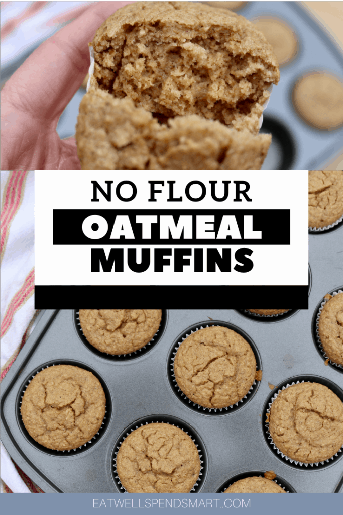 no flour oatmeal muffins with text overlay