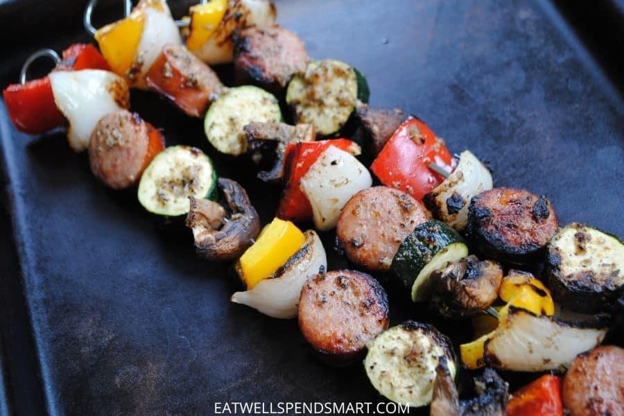 grilled smoked sausage kabobs